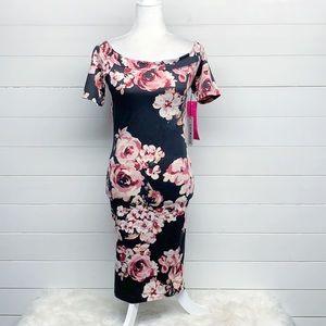 Haute Monde Floral Maternity Dress